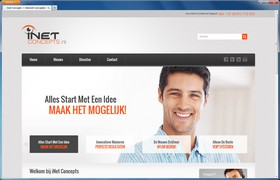 Screenshot van de website van Inet Concepts