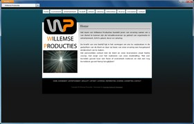 Screenshot van de website van Willemse Producties